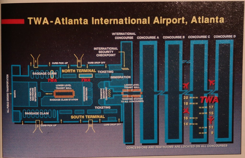 Twa Atlanta Airport Diagram 1994 A Twa Terminal Diagram O Flickr