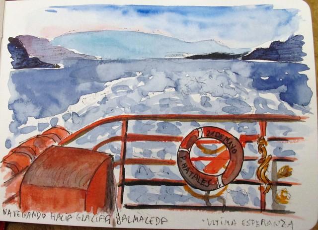 Navegando por el Seno Última Esperanza. Chile