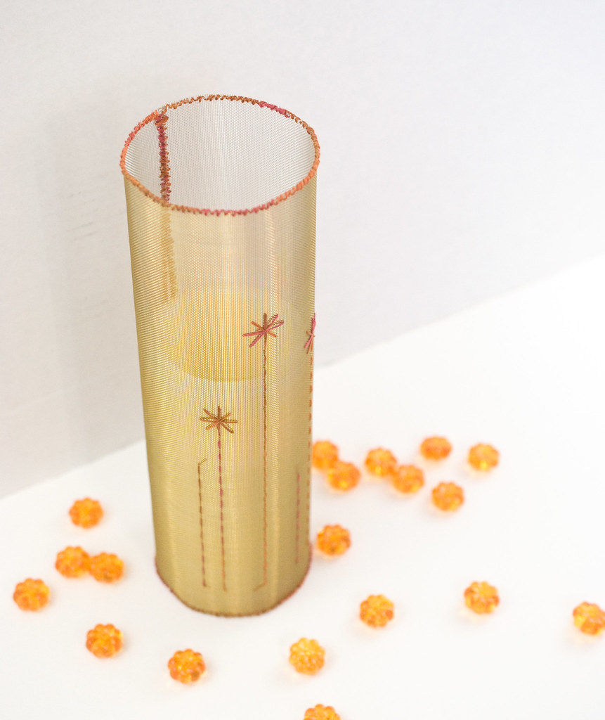Stitchable Mesh Candle Wrap