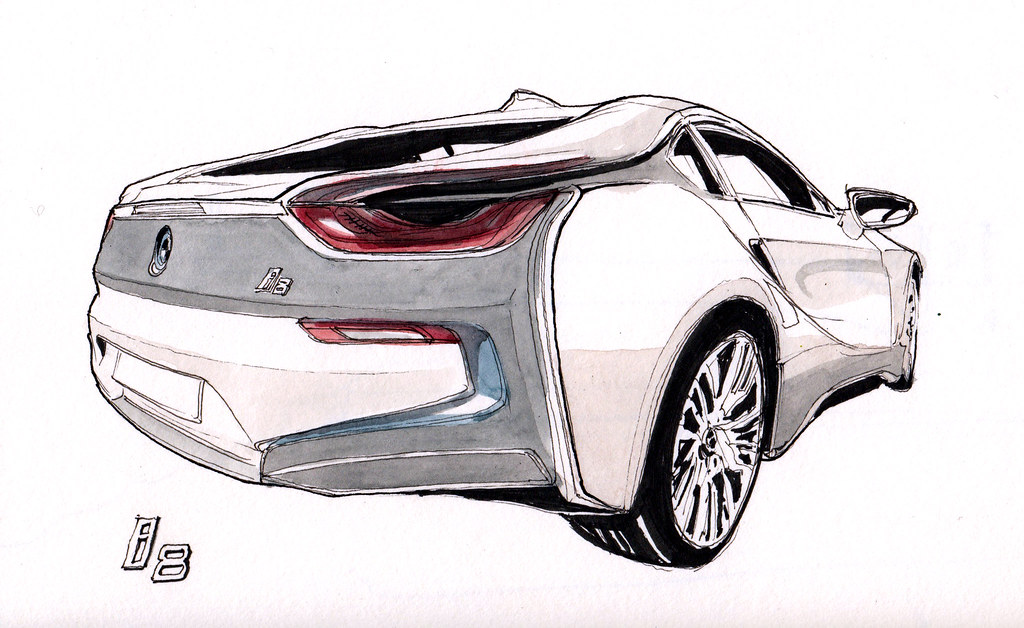Bmw I8 Ink Pen Drawing Flaf Flickr