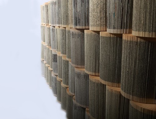 Mural - Folded Book Wall Sculpture by Crizu