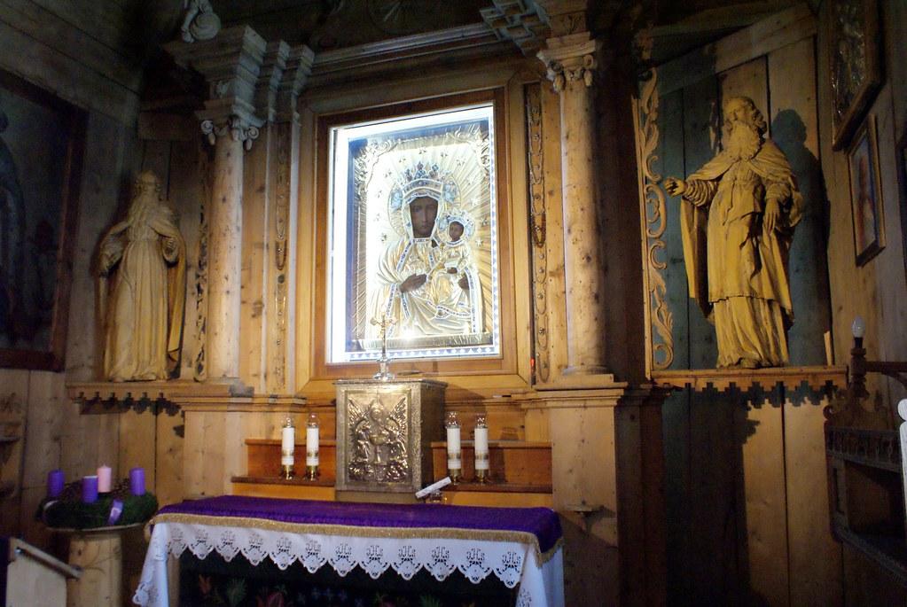 La Vierge noire de Czestochowa dans l'église St Clement de Zakopane.