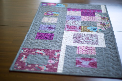 Plum-ish improv table runner | by frommartawithlove