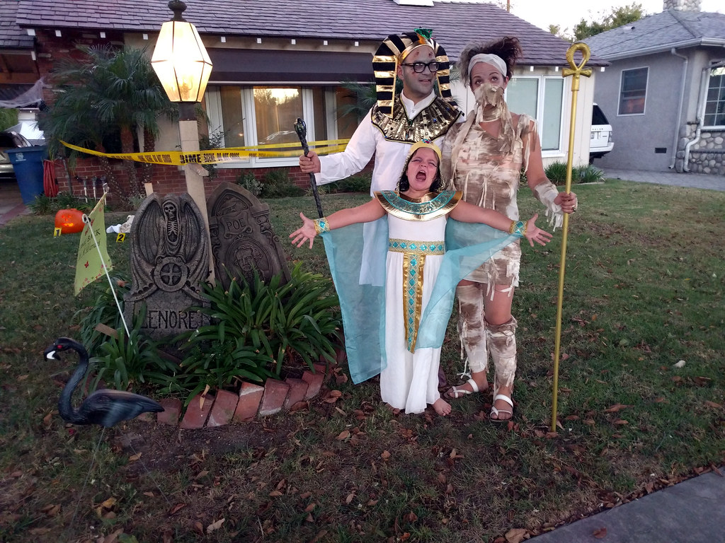 me, poesy and alice with tombstone 2, home, halloween, bur… | flickr