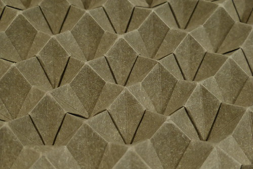 Blintzed bird base corrugation — close-up | by Michał Kosmulski