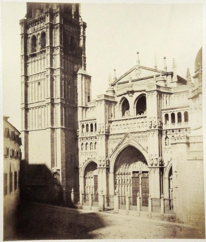 Catedral de Toledo en 1852. Fotografía de Felix Alexander Oppenheim © Museum für Islamische Kunst, Staatliche Museen zu Berlin