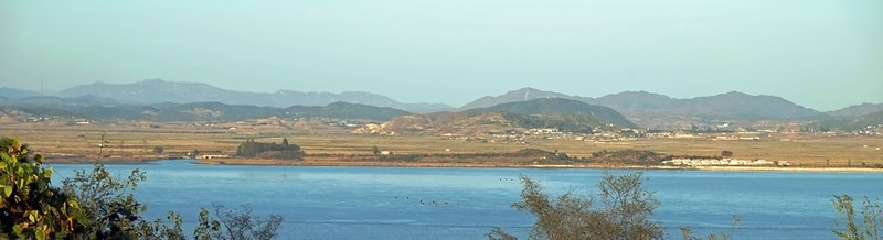 View of North Korea from Ganghwa Island