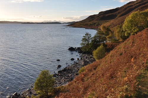 The shores of Loch Morar (Rum in the distance)