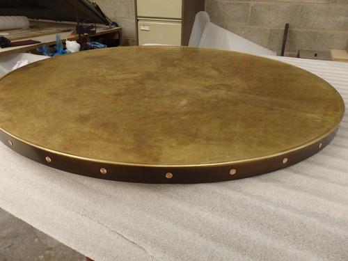 53 Aged Brass Top Edge Trim Amp Copper Rivets Olympus