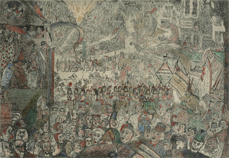 James Ensor - The Entry of Christ into Brussels, State 3, 1898