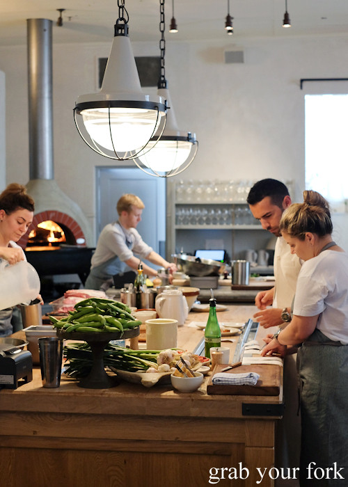 Chef Danielle Alvarez in the open kitchen at Fred's in Paddington
