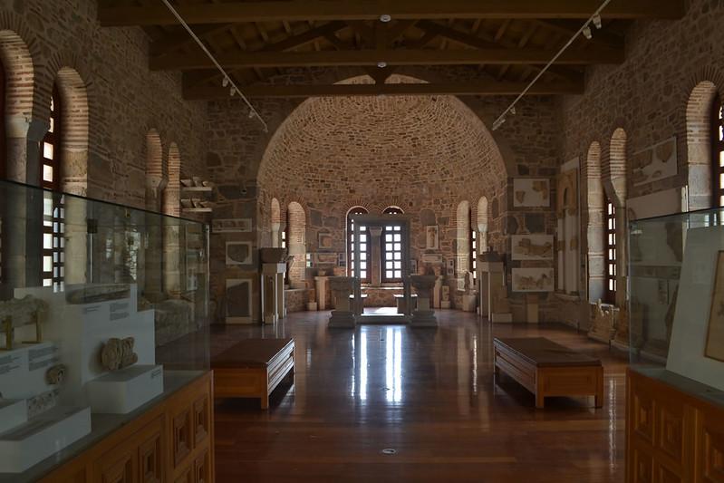 El antiguo refectorio, hoy musealizado