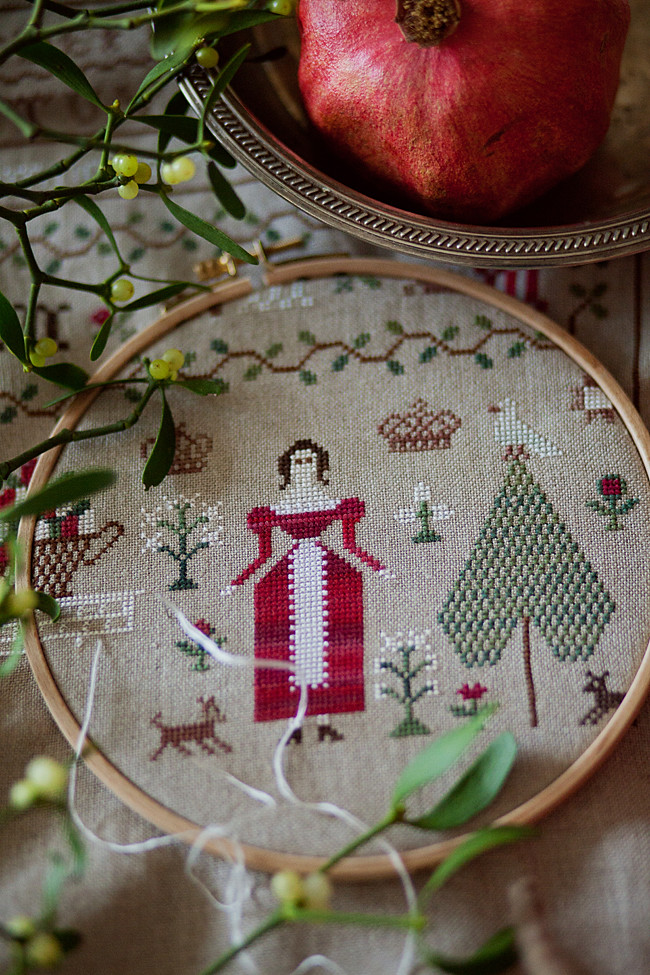 TheSubRosaDesign - Christmas Sampler-Molly Mitchell, 1836