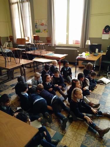 Sinterklaas op bezoek in het eerste leerjaar