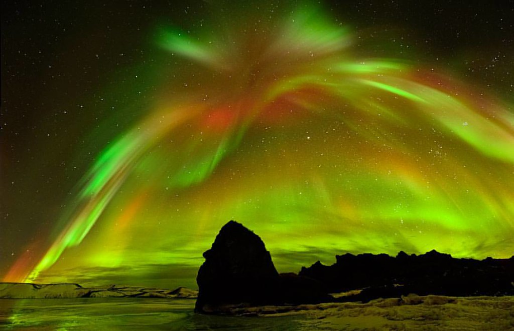 aurora explosion from a spectacular display of light c flickr