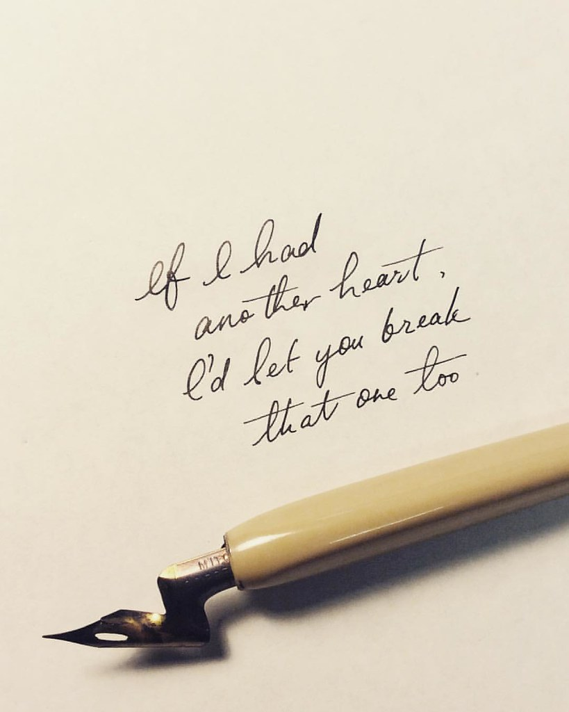 cursive #quote #love #heartbroken #heartbreak #art #writi… | flickr