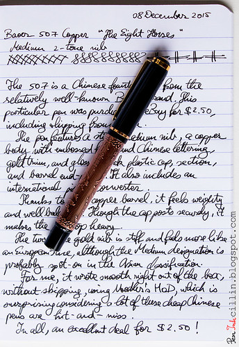 Baoer 507 Fountain Pen sample | by Peninkcillin