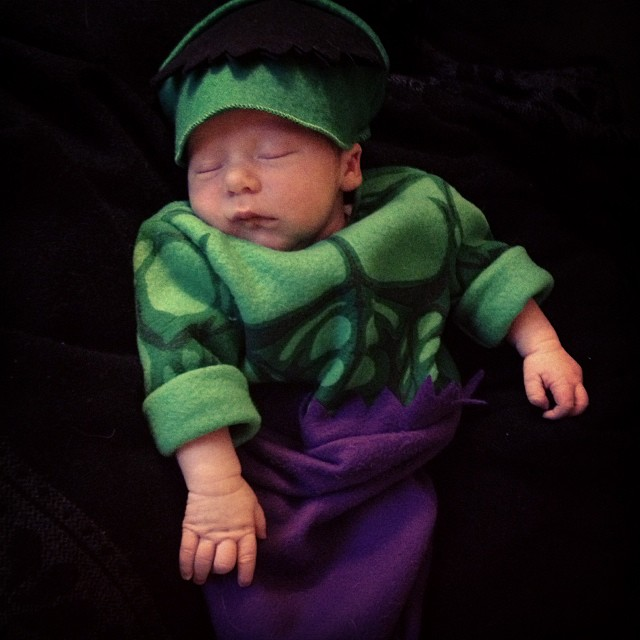 Hulk needs a nap! #babysfirsthalloween #halloween #baby #hulk #avengers #babyjakobjames
