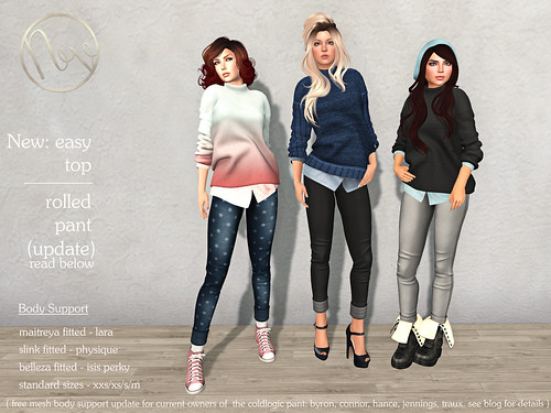 Neve - new easy sweater & updated rolled pant | by Neve - by coldLogic