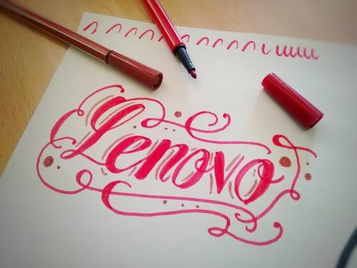 Lenovo Handlettering Handwriting Handmade Lettering