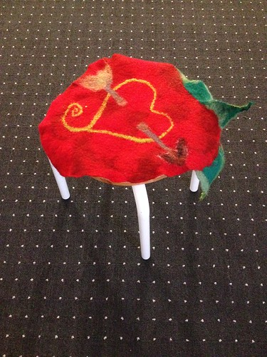 A big Strawberry Felted Seat Cover | by herbe_d