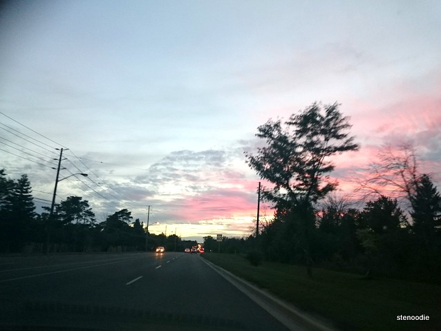 Markham sunsets