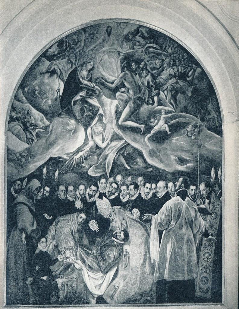 Entierro del Señor de Orgaz del Greco en la Iglesia de Santo Tomé de Toledo en la primavera de 1955. Fotografía de Cas Oorthuys © Nederlands Fotomuseum, Rotterdam