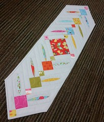 Peek a Boo table runner. Such a fun pattern. #gedesigns