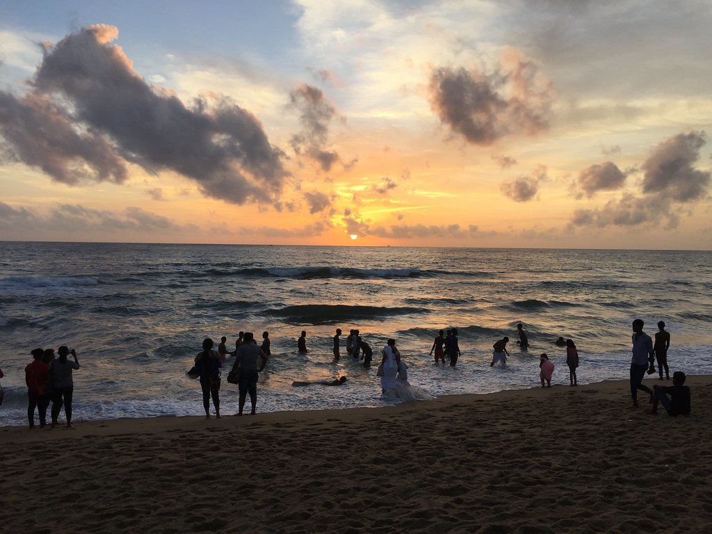 sunset at Galle Face