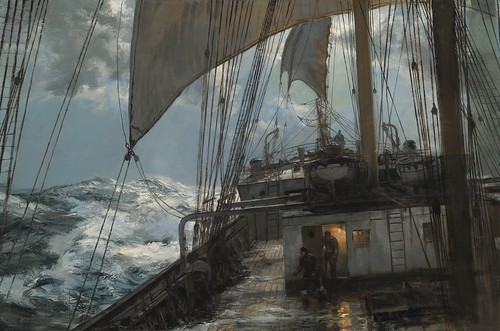 Montague Dawson A Night At Sea Compositions Featuring