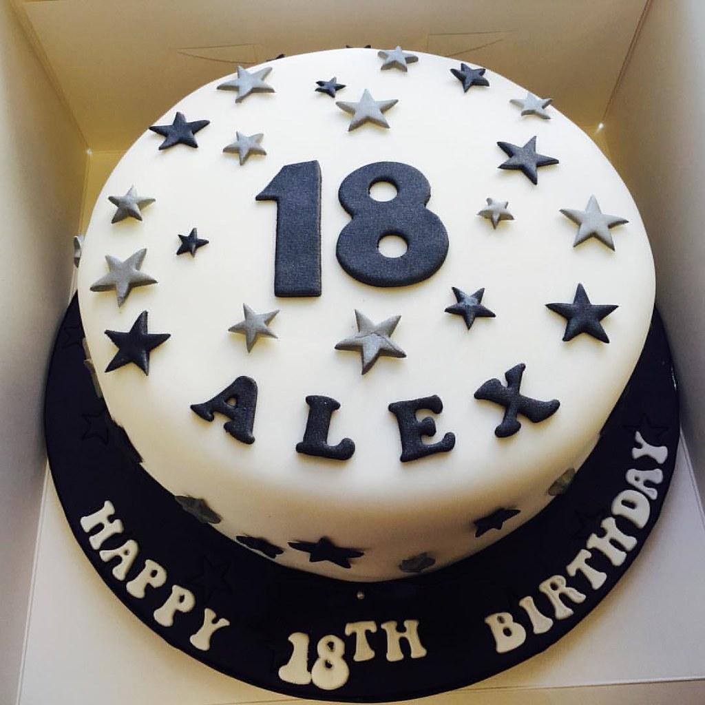 Simple Star Birthday Cake Daisycakesuktorquaydevoncupc Flickr