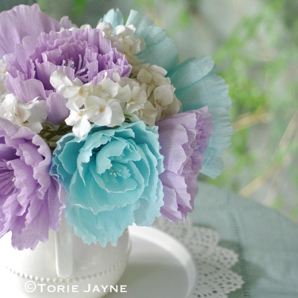 Diy Crepe Paper Flowers Blogged At Torie Jayne Blogfa Flickr