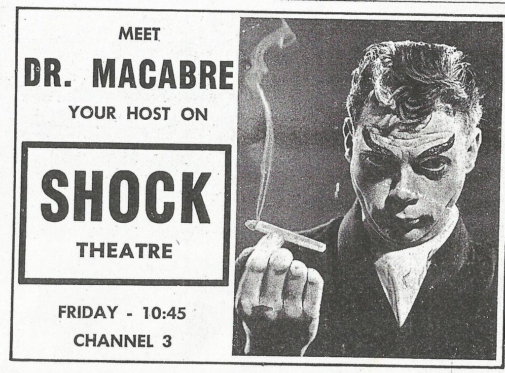 Shock theatre, 1959 | tv guide ad from duluth, mn. Meet dr. … | flickr.