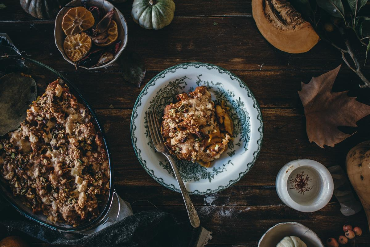 Saffron Pumpkin Pasta Bake for Virtual Pumpkin Party | Pasta al Forno con la Zucca | Lab Noon by Saghar Setareh-11