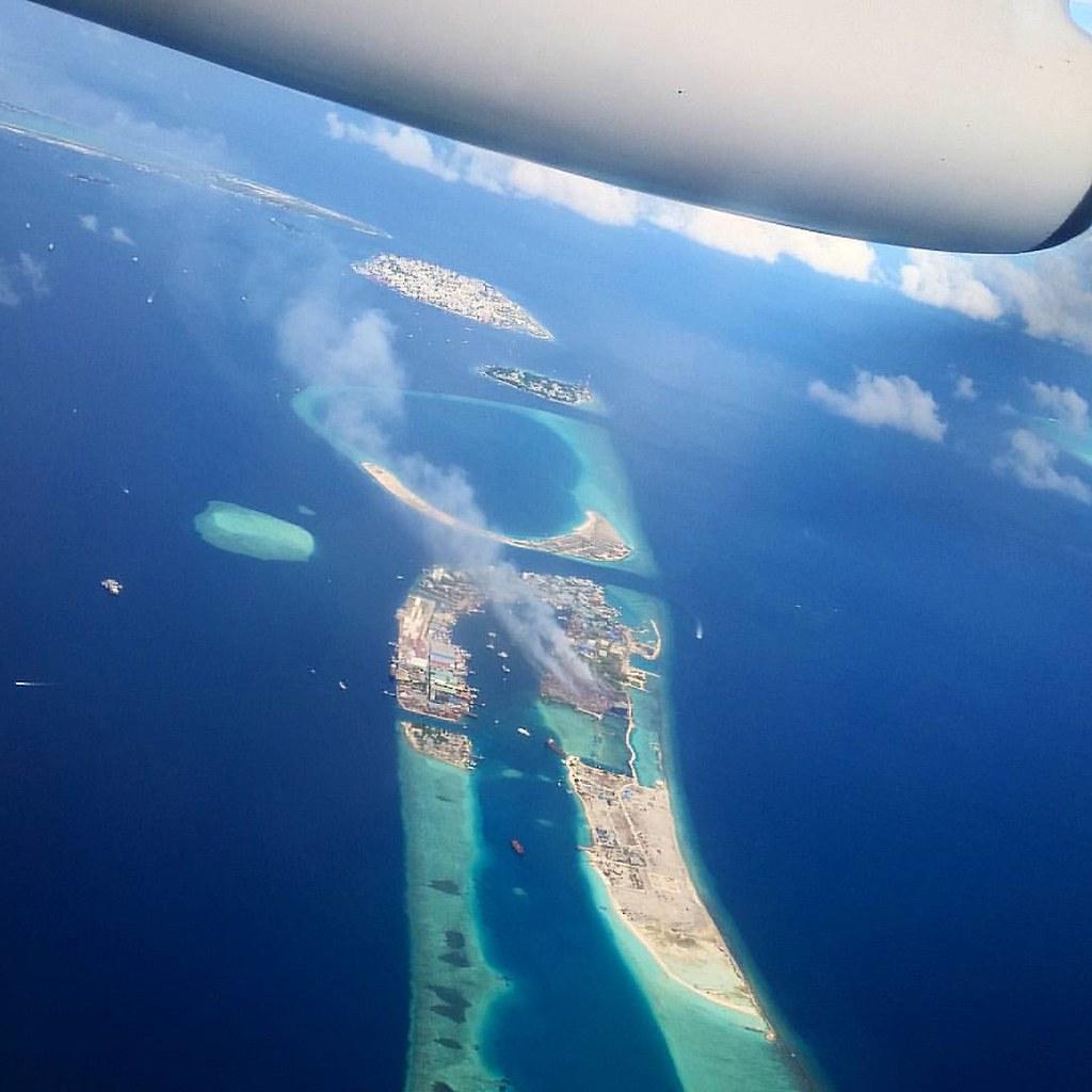 Hulhulé, Malé, Viligili, Gulhifalhu, Thilafushi  #maldivianaero