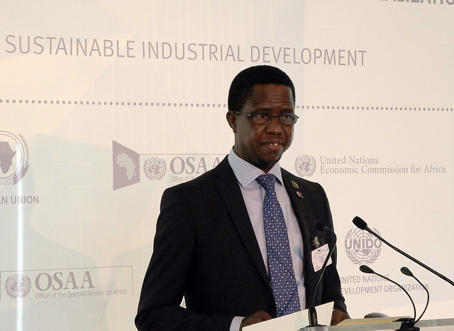 2015-Edgar Lungu President of Zambia at NY event on industrialization in Africa