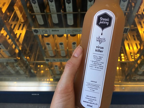 virus killer cold-press juice from Teresa's Juicery Barcelona | by Kate Wirth