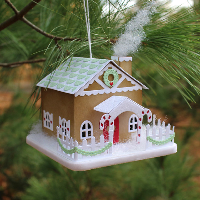 Gingerbread House Ornament Side