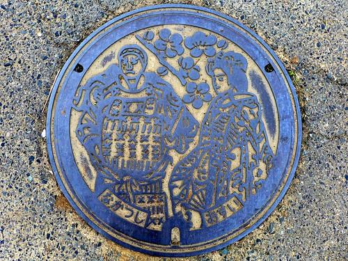 Nakatsu Oita, manhole cover 2 (大分県中津市のマンホール2)
