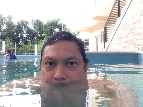Soaking in a geothermal pool, Laguna de Bay
