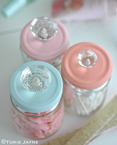 Upcycled Jars with Knobs | by toriejayne
