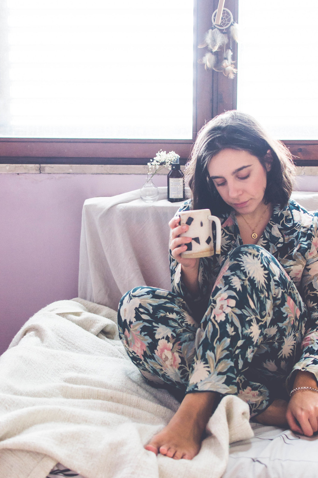 Softest Oysho pyjamas set between my favourite lounging products