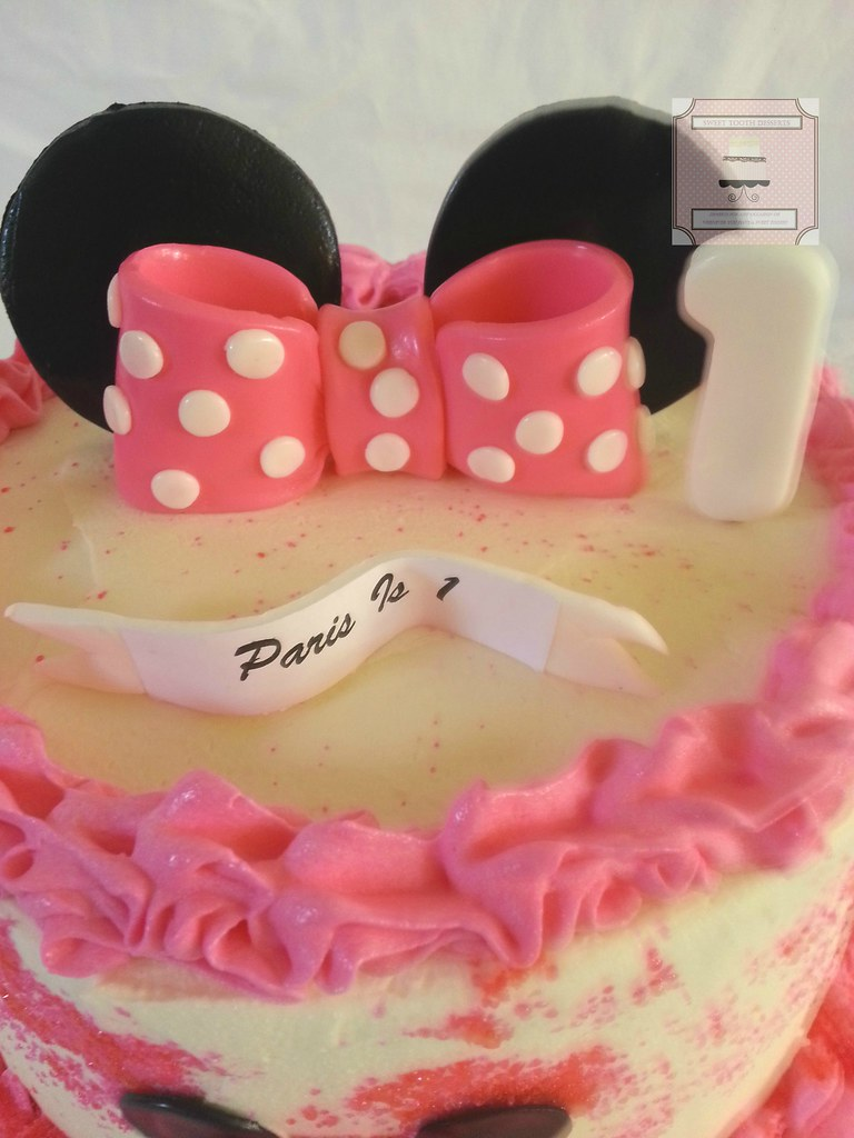 Minnie Mouse 1st Birthday Cake 8in Minnie Mouse 1st Birthd Flickr