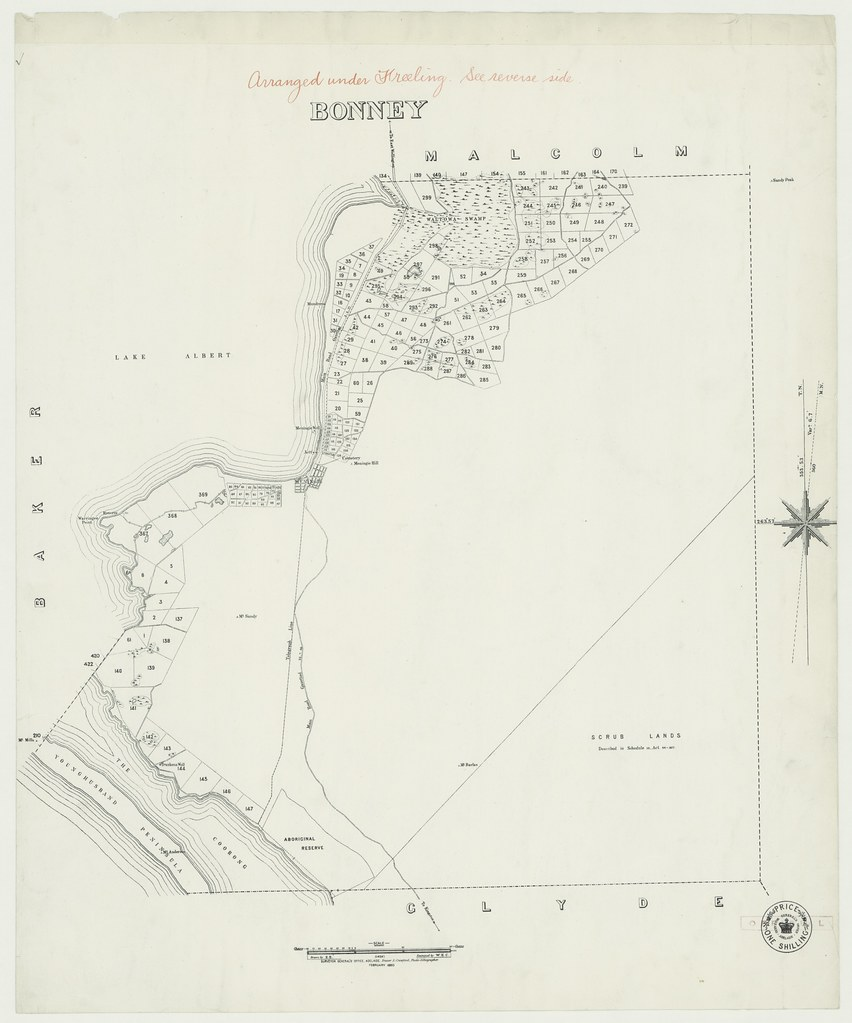 Map Of Australia 1880.Hundred Of Bonney 1880 View Additional Information For Th Flickr