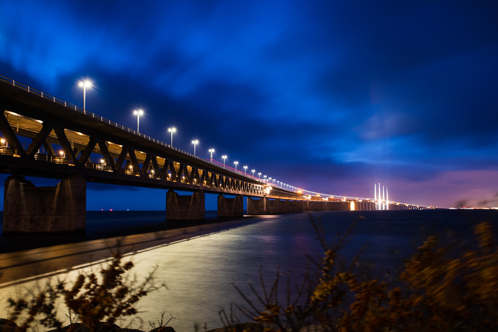Öresund bridge in Advent
