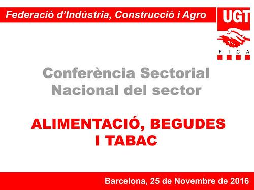 Conferència Sectorial Alimentació, Begudes i Tabac