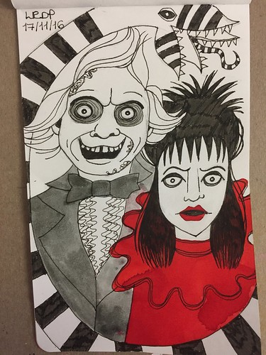 39 Inktober 2016 -Beetlejuice and Lydia | by Pict Ink
