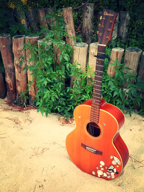 Mi guitarra en la playa 2