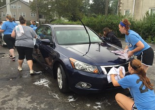 Softballers wash cars | by buhrayin