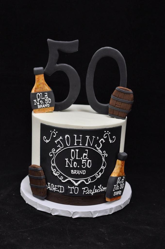 Whiskey Themed 50th Birthday Cake Jenny Wenny Flickr